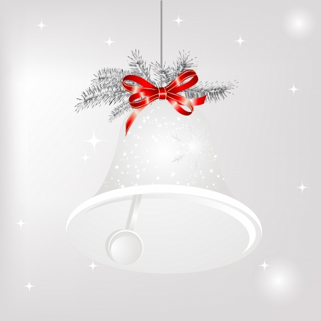 christmas bell: Luxury christmas bell with silver needles Illustration