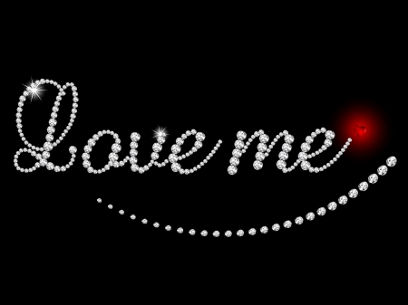 Love me - inscription of luxury diamonds Stock Vector - 15378618