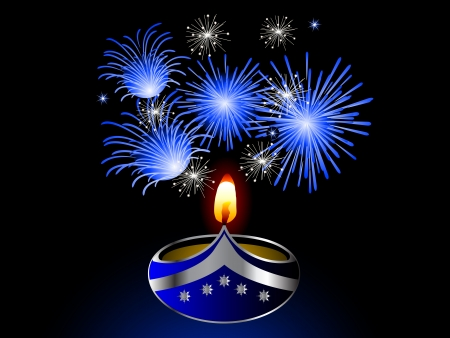 lightening: Diwali fondo negro con la l�mpara
