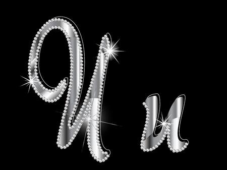 brillant: Diamant Buchstaben auf schwarzem Hintergrund