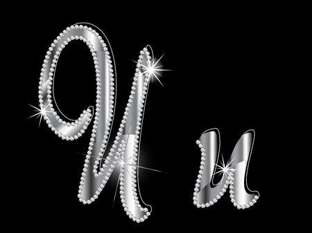 diamond letters: Diamond letters on black background