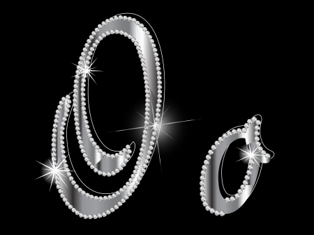 brilliancy: Diamond letters on black background