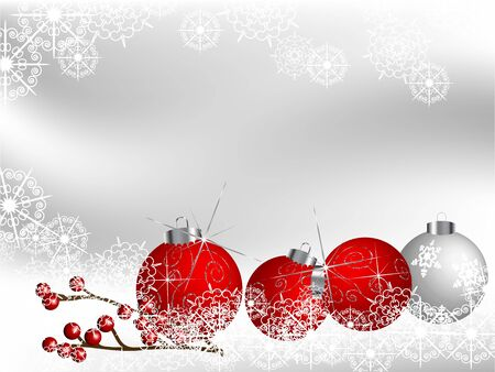 fantasize: Violet christmas background with balls