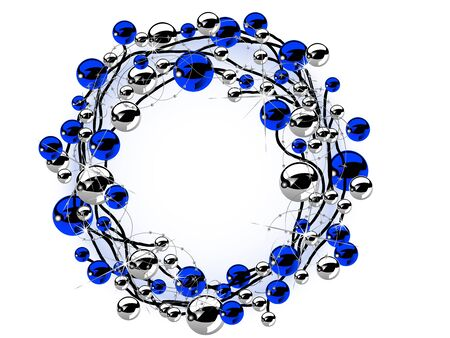 blue berry: Christmas wreath with blue and silver balls