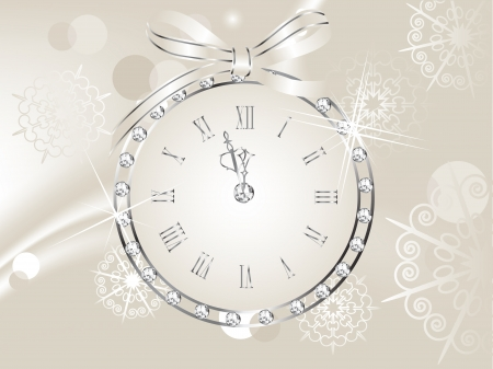 New year clock in globe Vector