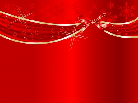 Red curtain and the ribbon Stock Vector - 16630225