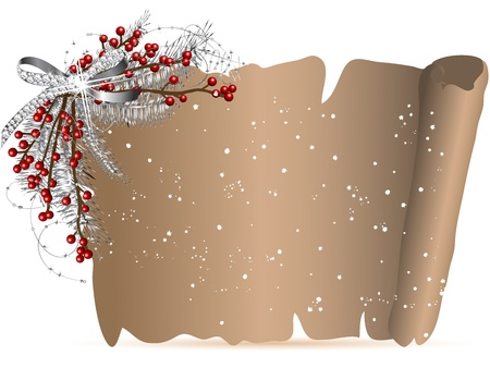 Parchment with the christmas garland Stock Vector - 16630224