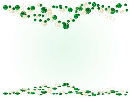 Abstract christmas background with green balls Stock Vector - 16684051