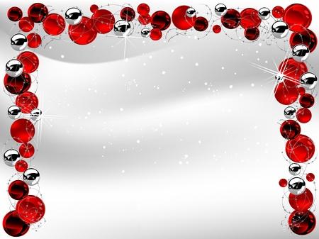 fantasize: Roja de la Navidad de fondo con bolas Vectores