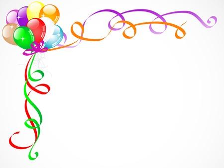 Bunte Luftballons mit Bändern und Sternen Standard-Bild - 16989071