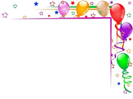 Carnival Hintergrund mit Luftballons und Bänder Standard-Bild - 17305690