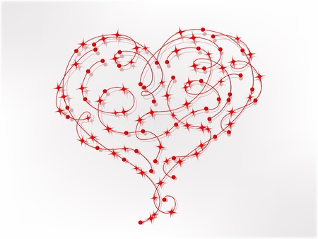 Abstract red wire heart - vector illustration Stock Vector - 17305689