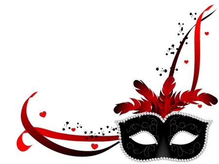 白い背景の上のカーニバルのフェイス マスク  イラスト・ベクター素材