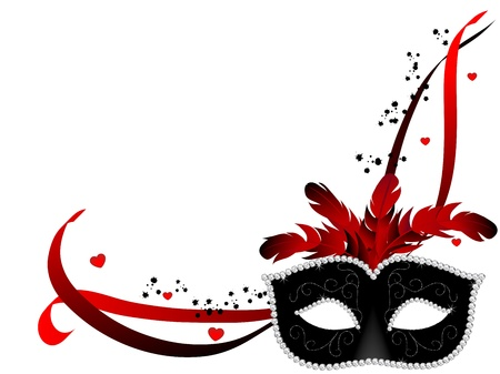 Carnival Gesichtsmaske auf weißem Hintergrund Standard-Bild - 17422761