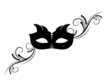Carnival facemask on white background Vector