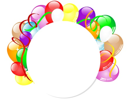 Carnival background with balloons and ribbons  Stock Vector - 17422747