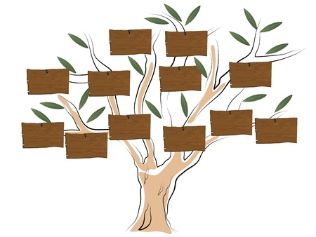 mammy: Vector illustration of genealogical tree