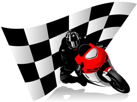 illustratie van motorcoureur