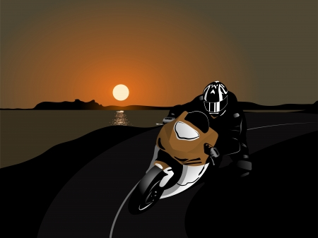extremesport: illustration of motorcycle racer