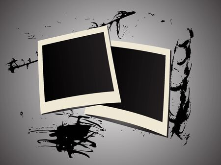 foe: Two photo frames on abstract grunge background