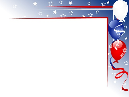 independance day: Independence day background with balloons and ribbons
