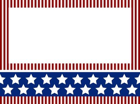 patriotic border: Fondo del d�a de la Independencia con rayas y estrellas