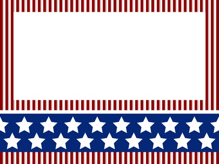 patriotic border: Independence day background with stripes and stars