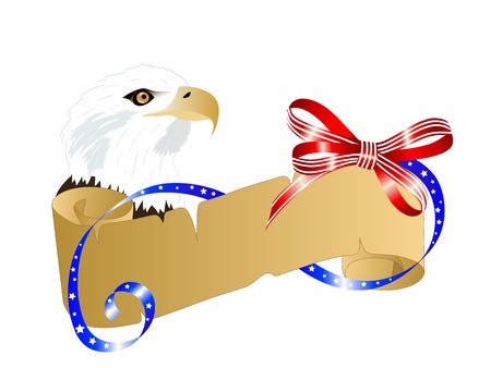 Independence day background with parchment and eagle Vector