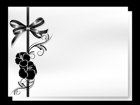 Abstract floral background with black hibiscus Vector