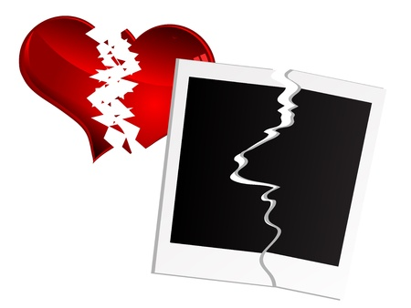 Red Broken Heart And Photo Frames Royalty Free Cliparts, Vectors ...