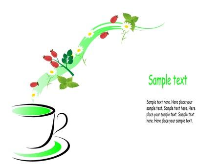 camomile tea: Glas teapot with fresh healthy herbal tea