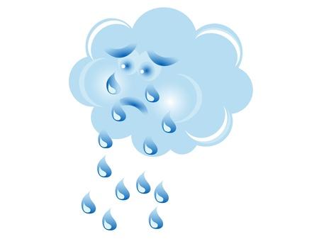 Weinende Wolke in blauer Farbe Standard-Bild - 20476787