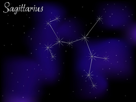luminary: Sky background with stars - vector illustration Illustration