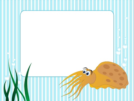 Blue stripped background with grass and sepia Vector
