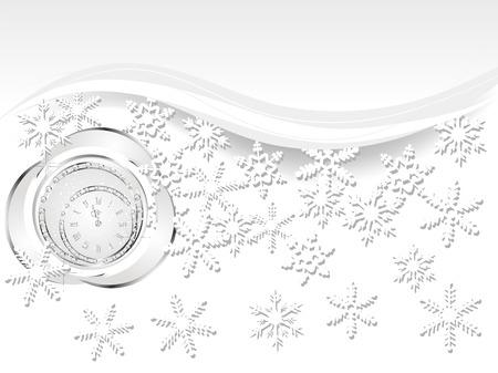 fantasize: Fondo de la Navidad con la bola y el reloj negro Vectores