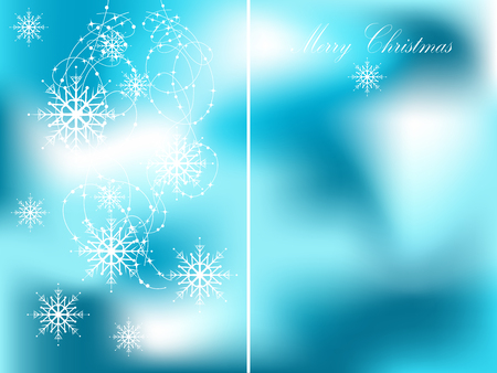 luminary: Blue christmas background with snowflakes Illustration