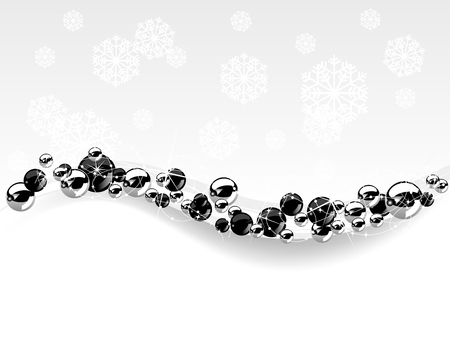 luminary: Christmas background with black and silver balls