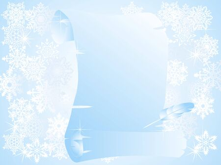 snowscene: Blue Christmas background