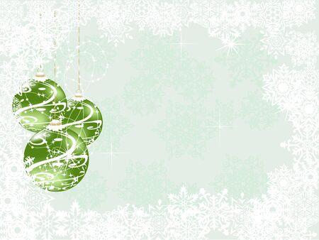 snowscene: Green Christmas background Illustration