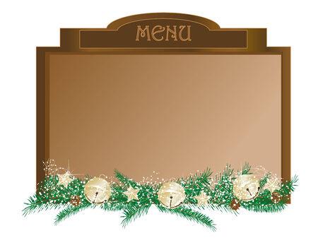 tearoom: Christmas menu board with luxury garland