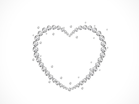 brilliancy: Abstract luxury heart with silver diamonds