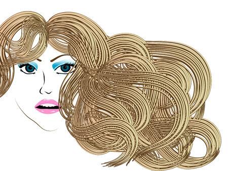 ragazza giovane bella: Bella ragazza con lunghi capelli biondi