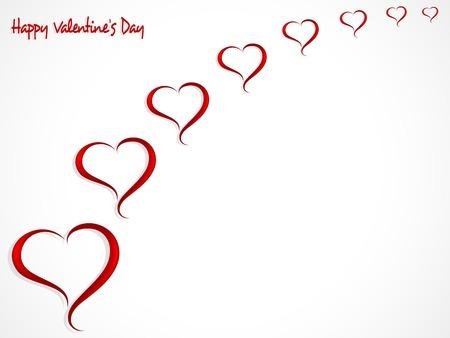 vector hearts: Abstract red hearts - vector illustration Illustration
