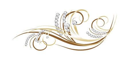 diamond background: Luxury diamond background - vector illustration