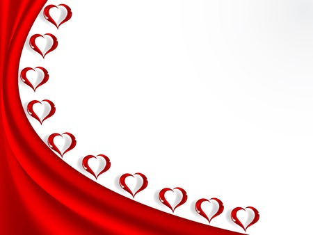 Valentine background with glass hearts Vector