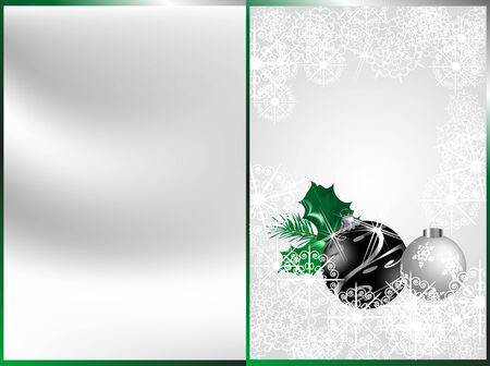 luminary: Christmas background with black balls