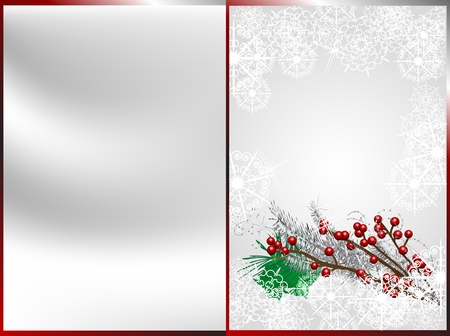 brilliancy: Red christmas berries and silver needles