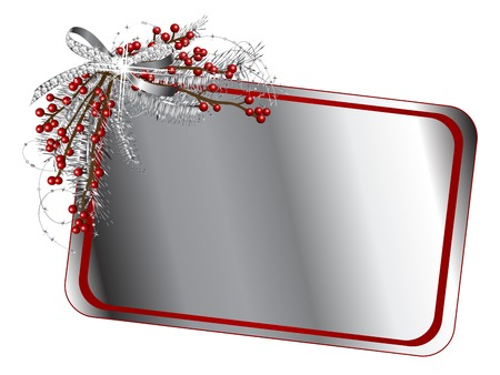 brilliancy: Blank card with silver ribbon with diamonds