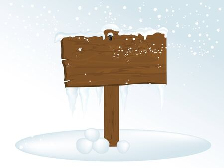 kârlı: Buz sarkıtları ile Karlı ahşap tabelasını