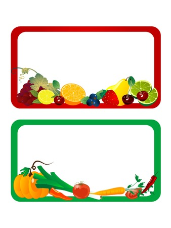 tomatoes: Stickers for fruit and vegetables Illustration